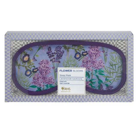 Lavender Garden - RHS Flower Blooms Scented Sleep Eye Mask Heathcote & Ivory